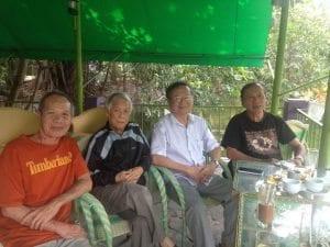 Từ trái: Lê Ký Thương, Nguyên Minh, Đỗ Hồng Ngọc, Thân Trọng Minh (phoyo Kim Quy)