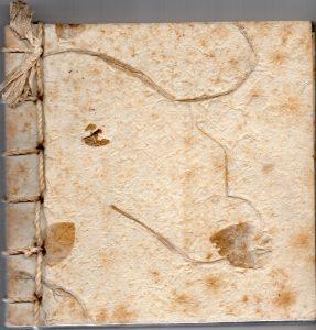 Bìa tập thơ Đỗ Hồng Ngọc, độc bản, viết tay trên giấy dó thô, 1996.